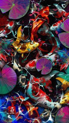 Koi Fish Art IPhone Wallpaper - IPhone Wallpapers