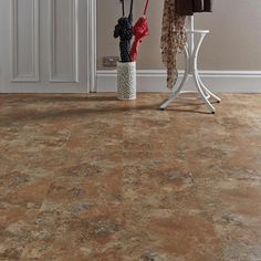 There aren't many floors which offer a unique, stand-out design, but the Verso Contract Gilded Flagstone is one of them. With a mottled effect, this floor brings a rustic, natural and earthy feel into the home. Its design makes it an especially g Flagstone, Vinyl Flooring, Earthy, Rustic, Wood, Design, Home Decor, Country Primitive, Decoration Home