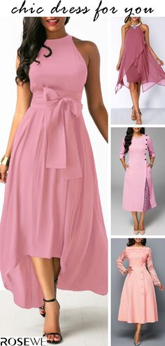 Choose your favorite dresses and shop online for cheap prices! The Dress, Pink Dress, Pretty Dresses, Beautiful Dresses, Vetement Fashion, Bridesmaid Dresses, Prom Dresses, Casual Dresses, Groom Dress