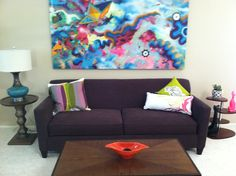 Amazing painting by my cousin, www.trentcall.com helps complete the living room