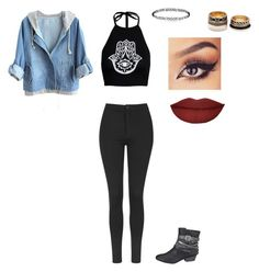 """""""Untitled #164"""" by maddy-whetstone ❤ liked on Polyvore featuring mode, Boohoo, Topshop, maurices en Forever 21"""