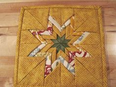 Square Folded Eightpoint Star Hot Pad by TheRetiredQuilt on Etsy, $8.00