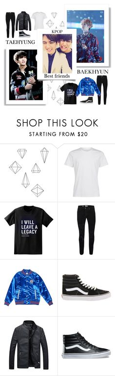 """☆Baekhyun&Taehyung☆"" by jasminxfashionx ❤ liked on Polyvore featuring Umbra, Paul Frank, Topman, Tommy Hilfiger, Vans, men's fashion and menswear"
