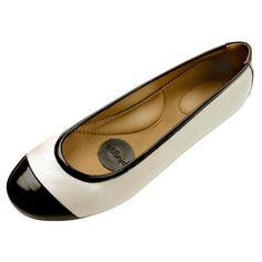 897d5c0844 Ballet Flat Leather Ivory Sapatilhas