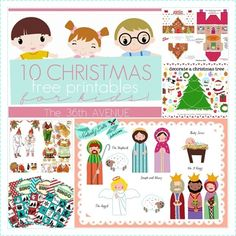 10 Free Christmas Printables for Kids over at the36thavenue.com