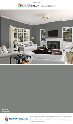 I found this color with ColorSnap® Visualizer for iPhone by Sherwin-Williams: Cityscape (SW 7067).
