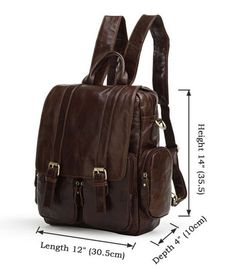 "ModernManBags.com - ""Lima 2"" Men's Vintage Leather Convertible Backpack"