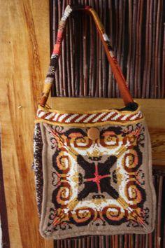 Handmade Fair Isle Knit Shoulder Bag Large by mkervin on Etsy, $130.00