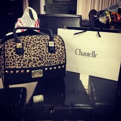 think am in LOVE with this #bag it's so cute !! and the animal print #love