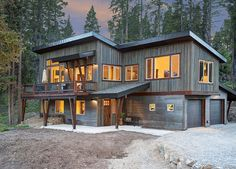 Rustic Exterior, Contemporary House Plans, Pole Barn Homes, D House, Cabin Homes, My Dream Home, Custom Homes, Future House, Architecture Design
