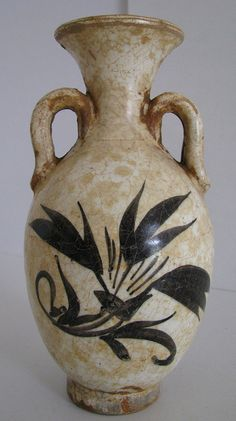 Jin Dynasty (1115-1234 AD) - White glaze jar with two handles   Flickr - Photo Sharing!