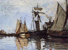 Claude Monet - Boats in the Port of Honfleur, 1866