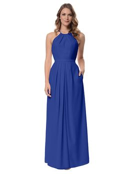 "Brides: Dove and Dahlia ""Isabelle"". ""Isabelle"", high neckline chiffon gown, $144, Dove & Dahlia available at Weddington Way"