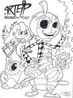 """Sketch - Poster 2 - história: """"Arteip e o medalhão de fogo"""" - feito por: Darci Campioti - visite meu blog: http://institutodeartesdarcicampioti.blogspot.com.br/"""