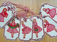 NOSTALGIC TREE:  Make ornaments like this with Dick & Jane cut outs.
