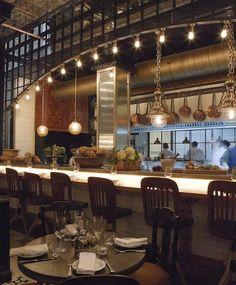 Toto | Barcelona - copper pots, barstools, open kitchen