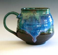 #ceramics #mug  |  I would so get an entire set of place settings for 12 in this. It's gorgeous!