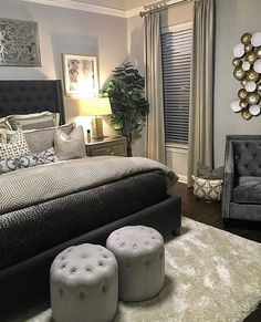 Bedroom Ideas, An astounding and breathtaking collection of decor inspirations. Article help note found at bedroom decor glam, pinned on 20190220 Stylish Bedroom, Modern Bedroom, Master Bedroom, Contemporary Bedroom, Bedroom Wall, Home Decor Bedroom, Bedroom Furniture, Bedroom Ideas, Design Bedroom