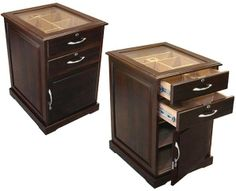 online shopping for Prestige Import Group - The Santiago End Table Cigar Humidor - Walnut Finish from top store. See new offer for Prestige Import Group - The Santiago End Table Cigar Humidor - Walnut Finish Humidors For Sale, Top Cigars, Pull Out Drawers, End Tables With Storage, Clever Design, Walnut Finish, Beveled Glass, Furniture Styles, Cigars