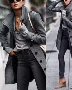 Fall Winter Fashion Pure Color Warm Coat Winter Coats Women, Coats For Women, Autumn Winter Fashion, Fall Winter, New Arrival Dress, Loungewear Set, Business Casual Outfits, Fashion Seasons, Warm Coat