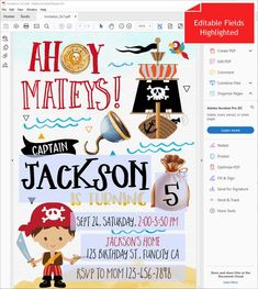 Pirate Birthday Invitation For Boys Pirate Invitations Birthday Boy Printables Pirate Party Invitations Treasure Map Invitation Instant 90th Birthday Decorations, Pirate Birthday Invitations, Map Invitation, Pirate Maps, Pirate Treasure, File Organization, Printing Services, Thank You Cards, Pirates