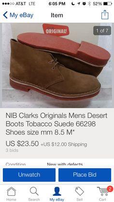 Clarks Originals Mens Tobacco Suede Desert Boots
