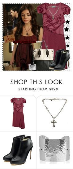 """""""Aria 1.5c"""" by silver-screen-style ❤ liked on Polyvore featuring Zac Posen, Urban Outfitters, Lois Hill, Rupert Sanderson, Monica Vinader, lucy hale, aria montgomery, pll, pretty little liars and reality bites me"""