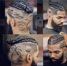 Hello,Today we bring to you 'Lovely Braided Hairstyles for Men'. Braided hairstyles are not only for Mens Braids Hairstyles, Black Men Hairstyles, Haircuts For Men, Haircut Designs For Men, Braid Styles For Men, Braided Man Bun, Braids For Boys, Shaved Hair Designs, Hair Tattoos