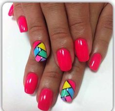 No need for overly complicated patterns or too expensive equipment to do … – neon nail art Neon Nail Art, Neon Nails, Easy Nail Art, Funky Nails, Trendy Nails, Cute Nails, Dot Nail Designs, Flower Nail Designs, Spring Nails