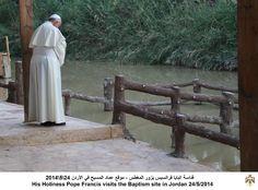 صورة: قداسة البابا فرانسيس يزور المغطس - موقع عماد المسيح في #الأردن #الاردن #PopeVisitJO #JO #Jordan pic.twitter.com/lTNebWrAv0