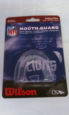 Lot Of 10 Wilson Single Density Strapless Youth Mouth Guards Red