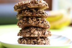 Banana Apricot Spelt Oatmeal Cookies will bring out your inner Cookie Monster!