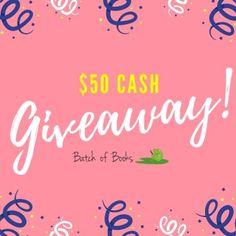 $50 Cash Giveaway | batchofbooks.com