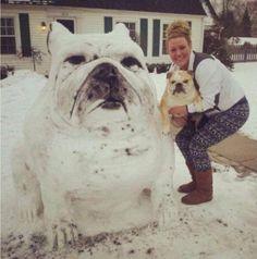 Dove c'è (abbastanza) neve, c'è un pupazzo. E dove c'è creatività c'è molto più di una carota al posto del naso e di una coppia di bottoni come occhi. Con l'inverno ormai alle porte sul web iniziano a spopolare gli scatti di vere e proprie sculture di neve c