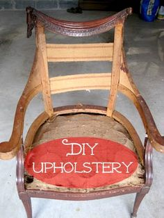 Upholstery 101 | Calling it Home | See a 10-week DIY upholstery project for this chair. Includes tying springs, attaching webbing and foam, tackling seams and adding trim.