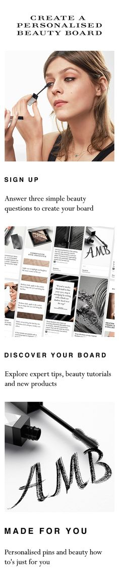 Click here now and answer three simple beauty questions to create your personalised beauty board with Burberry and Sephora to celebrate new Burberry Cat Lashes mascara.