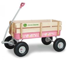 Check out the deal on Pink John Deere Stake Wagon - Ertl at Ag Farm Toys