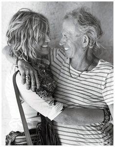 Keith Richards and wife Patti Hansen photographed by Bruce Weber