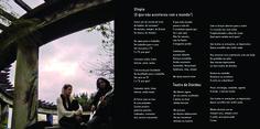 Página de encarte produzido para o CD da banda Nyna.