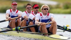 egory, Pete Reed, Tom James and Andrew Triggs Hodge of Great Britain compete on their way to winning gold in the Men's Four Final on Day 8 of the London 2012 Olympic Games at Eton Dorney - Australia - Silver and United State - Bronze
