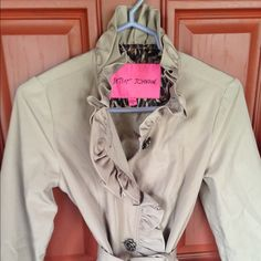 Betsey Johnson beautiful jacket Excellent condition worn once no stains rips or any other damage Betsey Johnson Jackets & Coats Trench Coats
