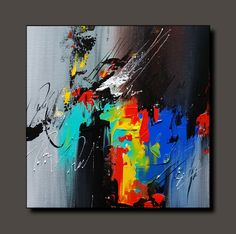 Children's Art Paintings – Viral Gossip Abstract Canvas Art, Oil Painting Abstract, Acrylic Art, Oil Paintings, Modern Art, Ideas, Art On Canvas, Art Boards, Abstract Art Paintings