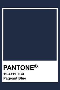 Pantone Navy, Pantone Tcx, Pantone Colour Palettes, Pantone Color, Blue Pallets, Azul Indigo, Dark Blue Color, Colour Pallete, Color Studies