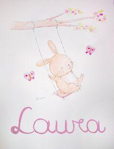 Nursery Art, Girl Nursery, Cute Drawings, Animal Drawings, Imprimibles Halloween, Nursery Pictures, Baby Illustration, Baby Images, Baby Art