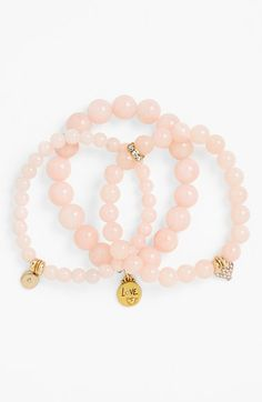 Pretty pink bracelets