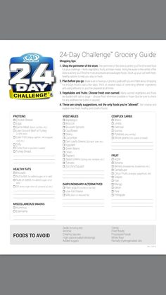 Advocare 24 Day Challenge grocery list. Www.fdchampions.com  Buy your challenge at www.advocare.com/150311028