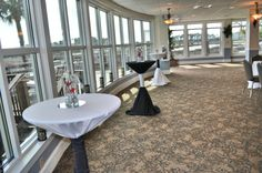 """What a View!!!! cocktail table set up along the windows added that little """"extra"""" ump"""