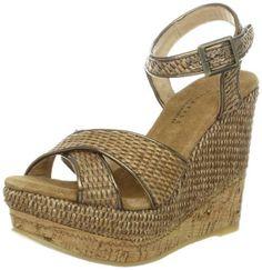 Very Volatile Women's Alondra Wedge Sandal,Brown