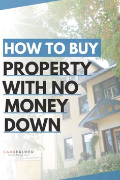 Learn how to buy a house with little or no money down. Buying your first house could be cheaper than renting. We'll show you what programs are available and how to find the best deal for your situation. Even if you have bad credit or a low credit score, there are still options available. Best Money Saving Tips, Ways To Save Money, Money Tips, Saving Money, How To Get Rich, How To Find Out, Managing Your Money, First Time Home Buyers, Real Estate Tips