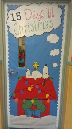 teacher door decorations holiday door decorations school decorations christmas door decorating contest - Snoopy Christmas Door Decorations